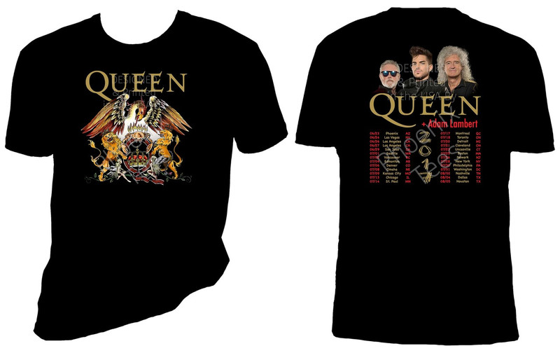 Queen + Adam Lambert 2017 Concert Tour T-Shirt
