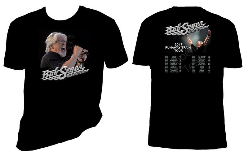 "Bob Seger and The Silver Bullet Band ""Runaway Train Tour"" 2017 T shirt"