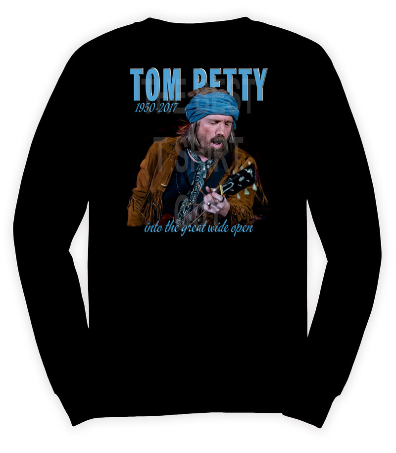 Tom Petty (1950-2017)  Into the Great Wide Open T shirt