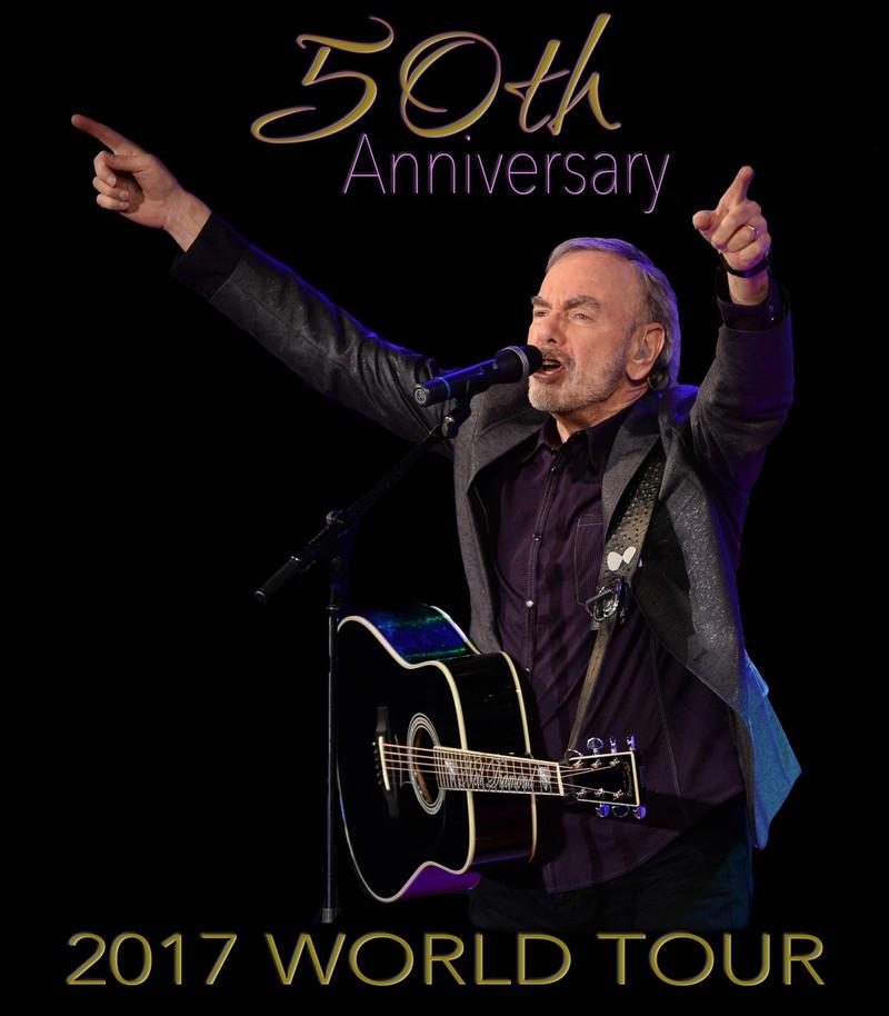 Neil Diamond 50th Anniversary 2017 Concert T Shirt