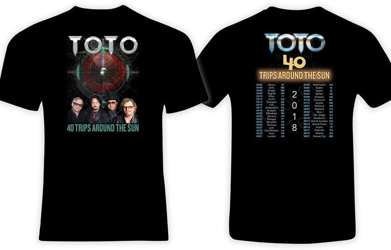 Toto 2018 40 Trips Around The Sun Concert Tour t shirt