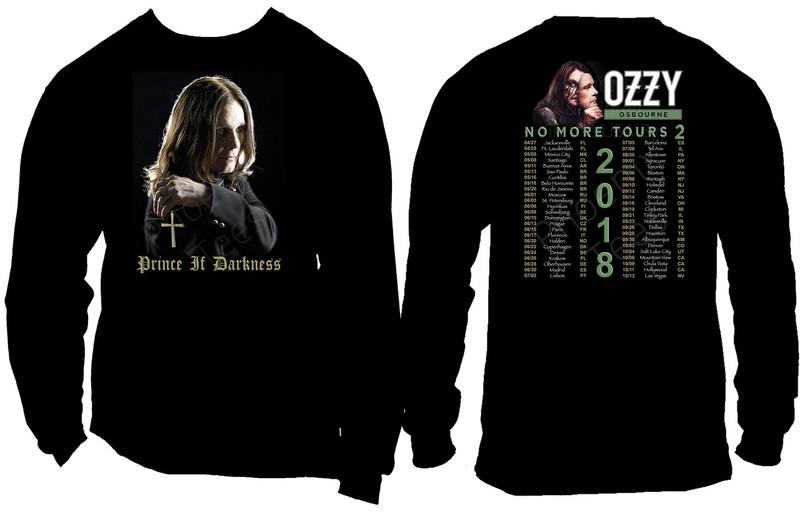 "Ozzy Osbourne ""No More Tours 2"" 2018 World Concert Tour Tshirt"