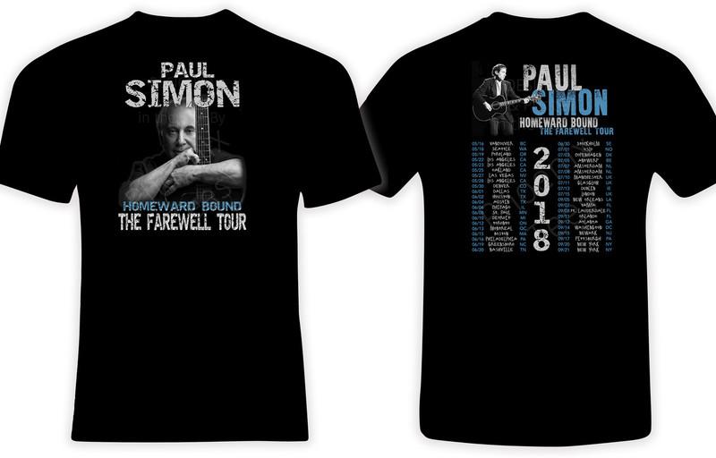 Paul Simon Homeward Bound The Farewell Tour 2018 t shirt