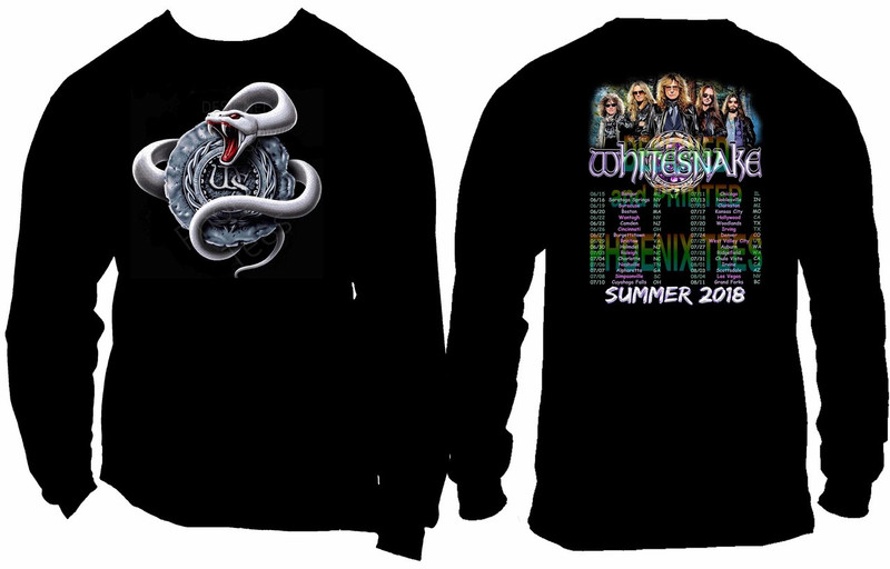 Whitesnake 2018 Summer Tour T shirt