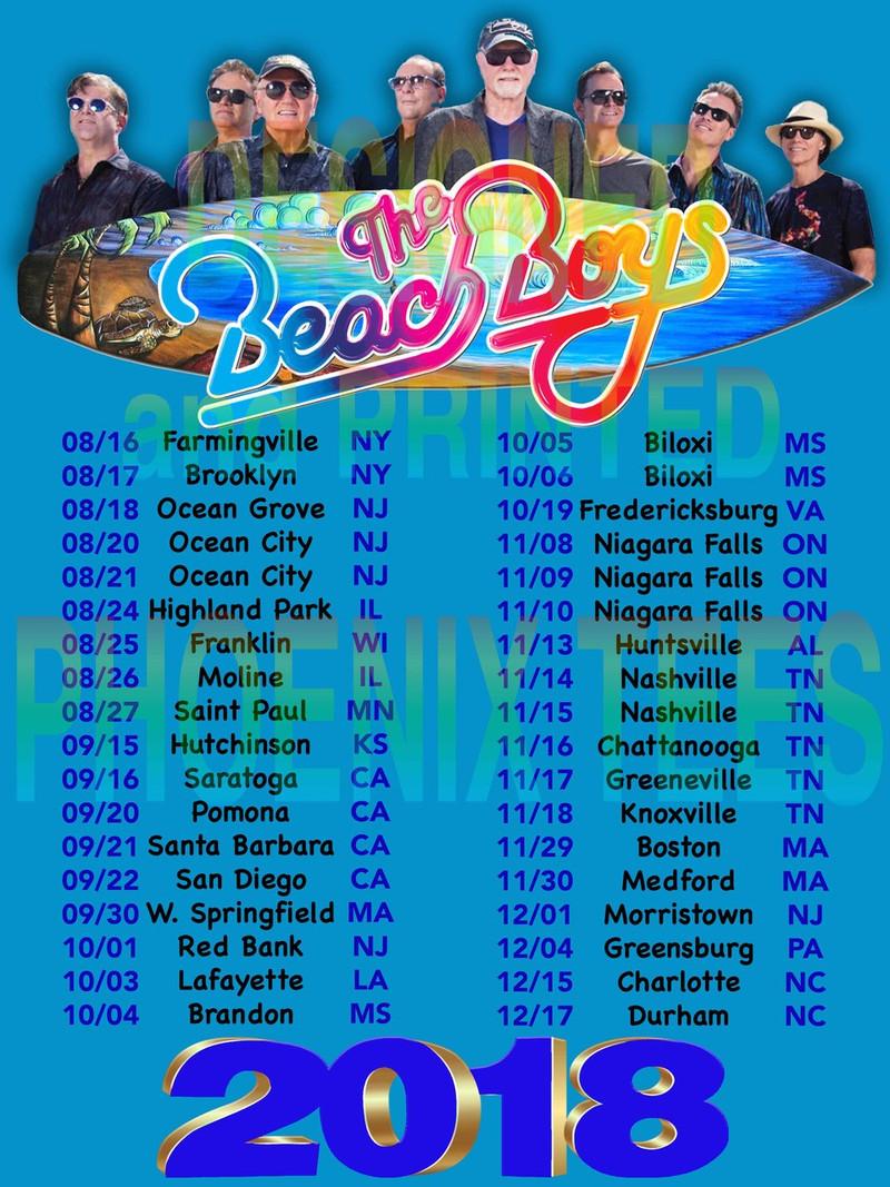 Beach Boys 2018 Concert Tour tshirt