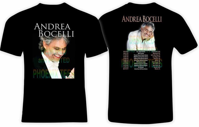 Andrea Bocelli 2018 Concert Tour tshirt