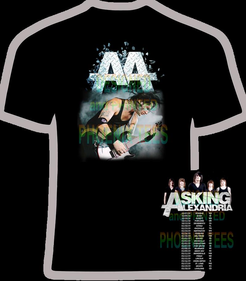Asking Alexandria 2018-2019 Concert Tour t shirt