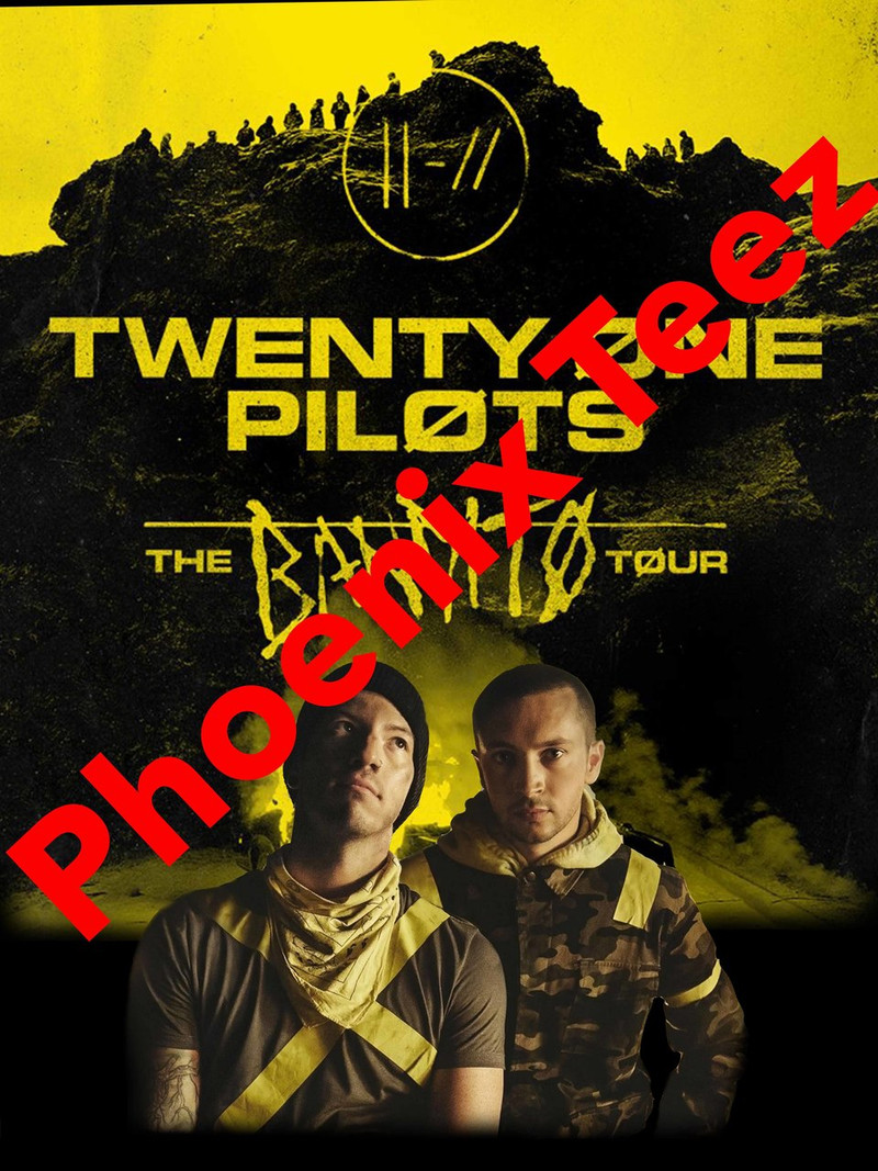 21 Pilots 2018 Bandito Concert Tour T shirt