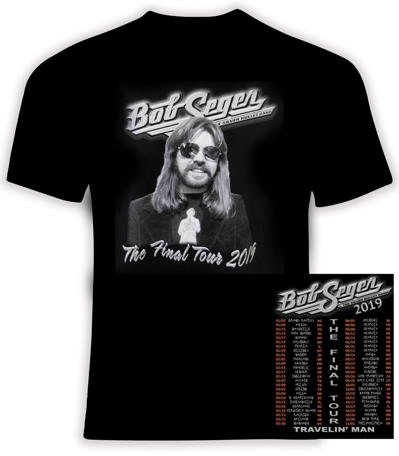 Bob Seger and the Silver Bullet Band 2019 'Travelin Man' Farewell Tour t shirt