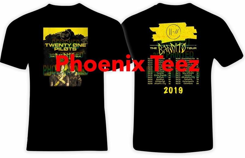 21 Pilots 2019 Bandito Concert Tour T shirt