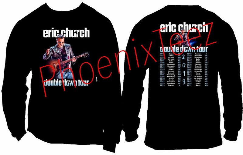 Eric Church 2019 Double Down Tour t shirt