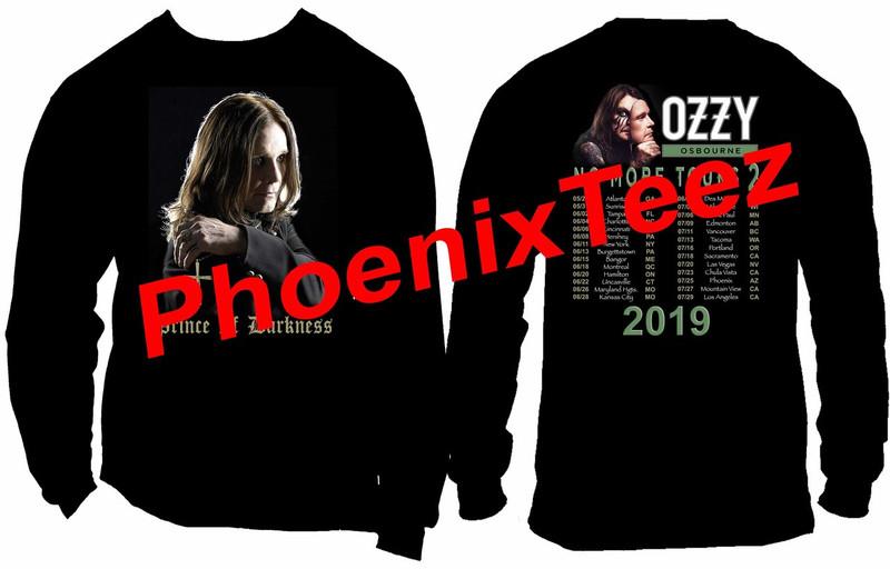 "Ozzy Osbourne 2019 ""No More Tours 2"" World Concert Tour T shirt"