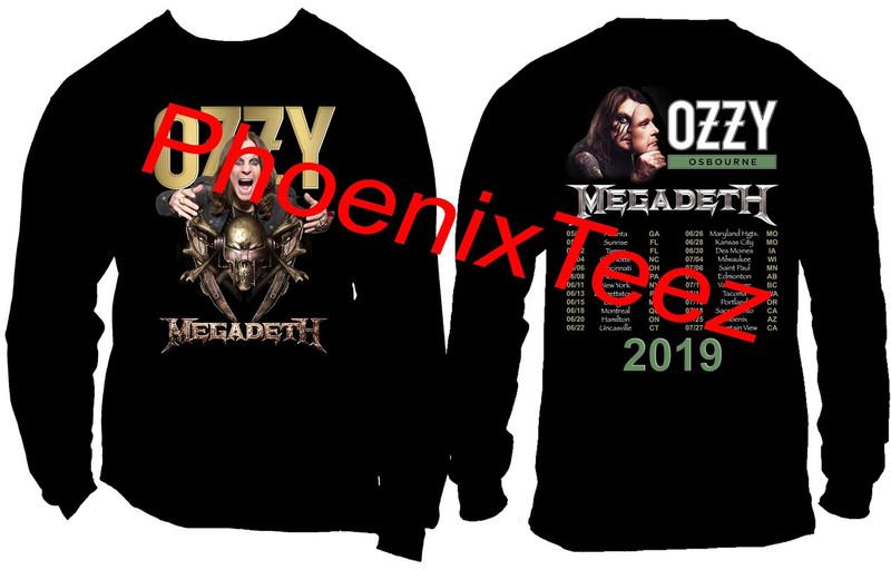 Ozzy Osbourne and Megadeth 2019 Concert Tour