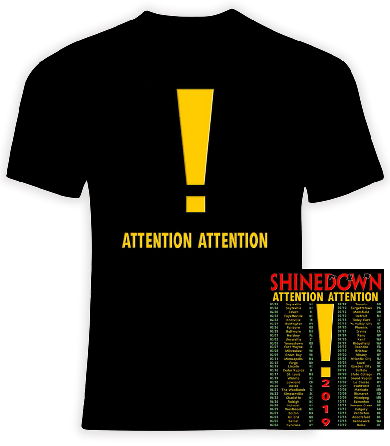 Shinedown 2019 Attention Attention Concert Tour