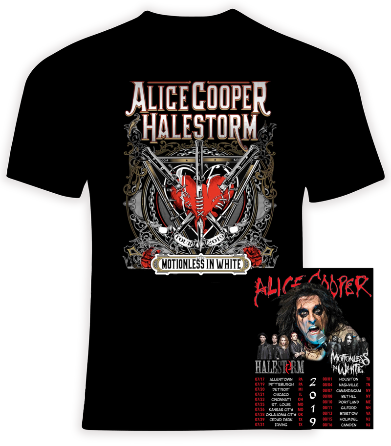 Alice Cooper, Halestorm and Motionless in White 2019 Summer Concert Tour