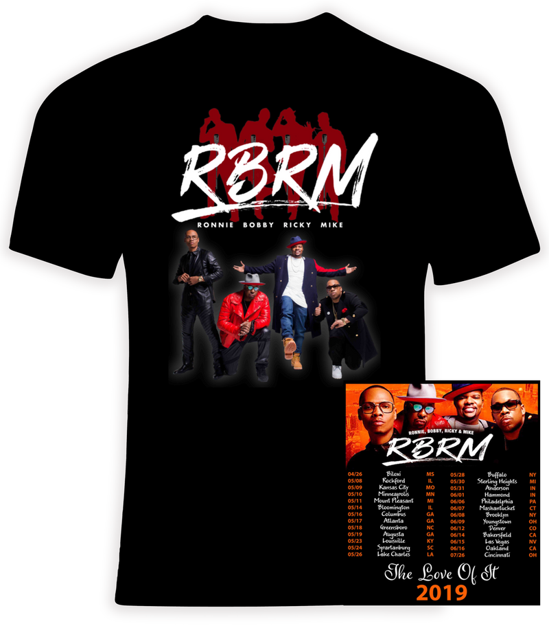 RBRM 2019 'The Love Of It' Concert Tour  New Edition T-shirt