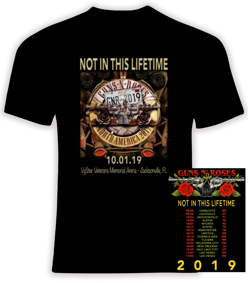 Guns N' Roses Customized  2019 'Not In This LIfetime'