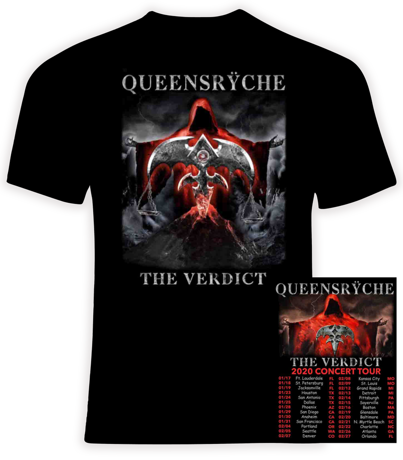 Queensryche 2020 The Verdict Concert Tour t shirt
