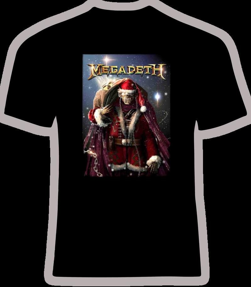 Megadeth Santa T Shirt