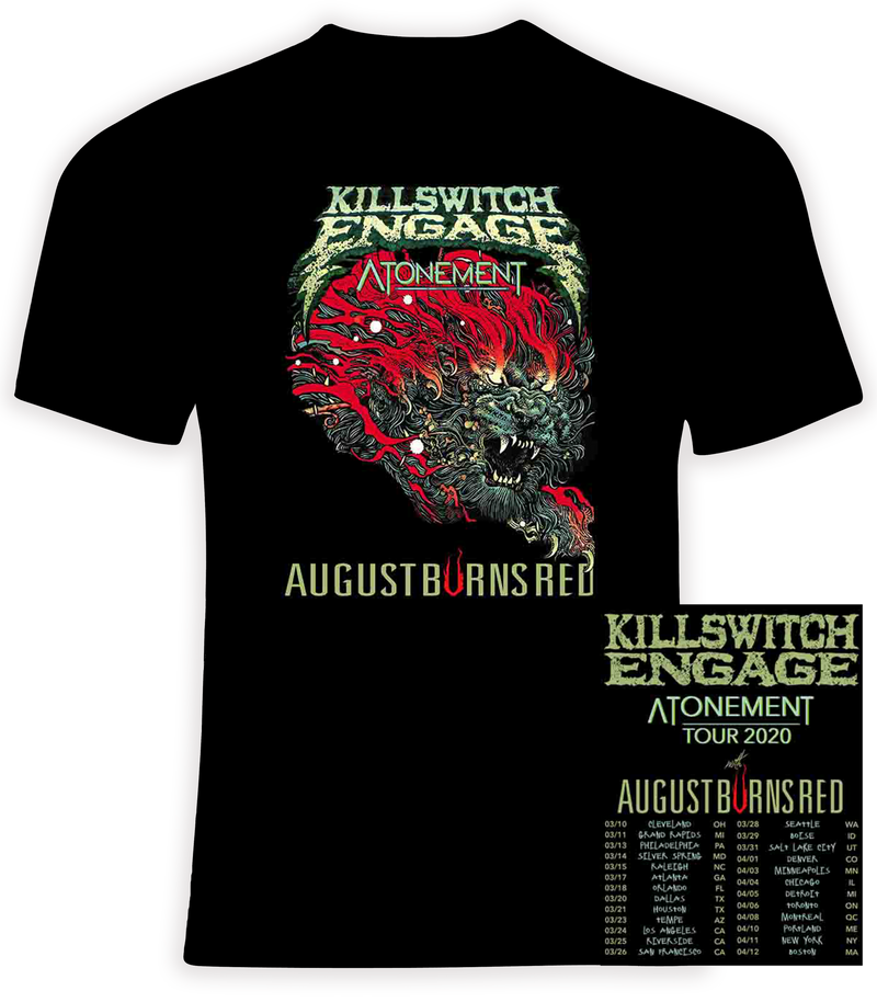 Killswitch Engage 2020 Atonement Concert Tour t shirt