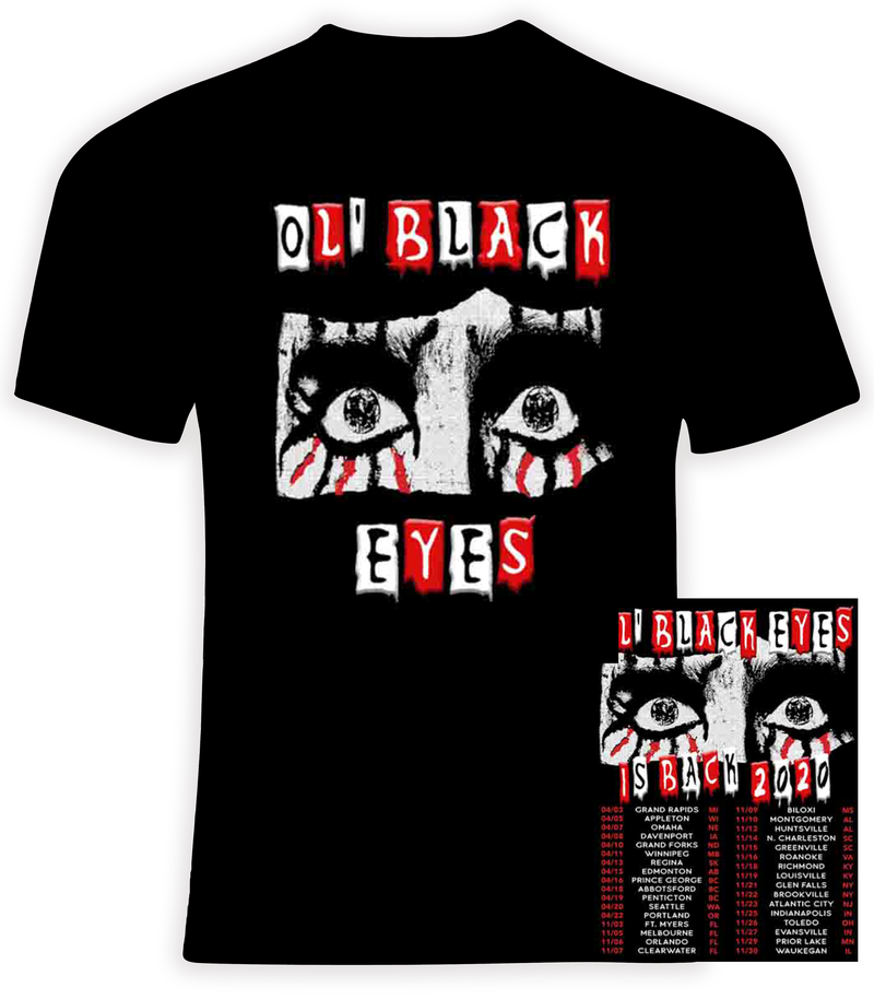 Alice Cooper 2020 Ol Black Eyes Is Back Concert Tour t shirt
