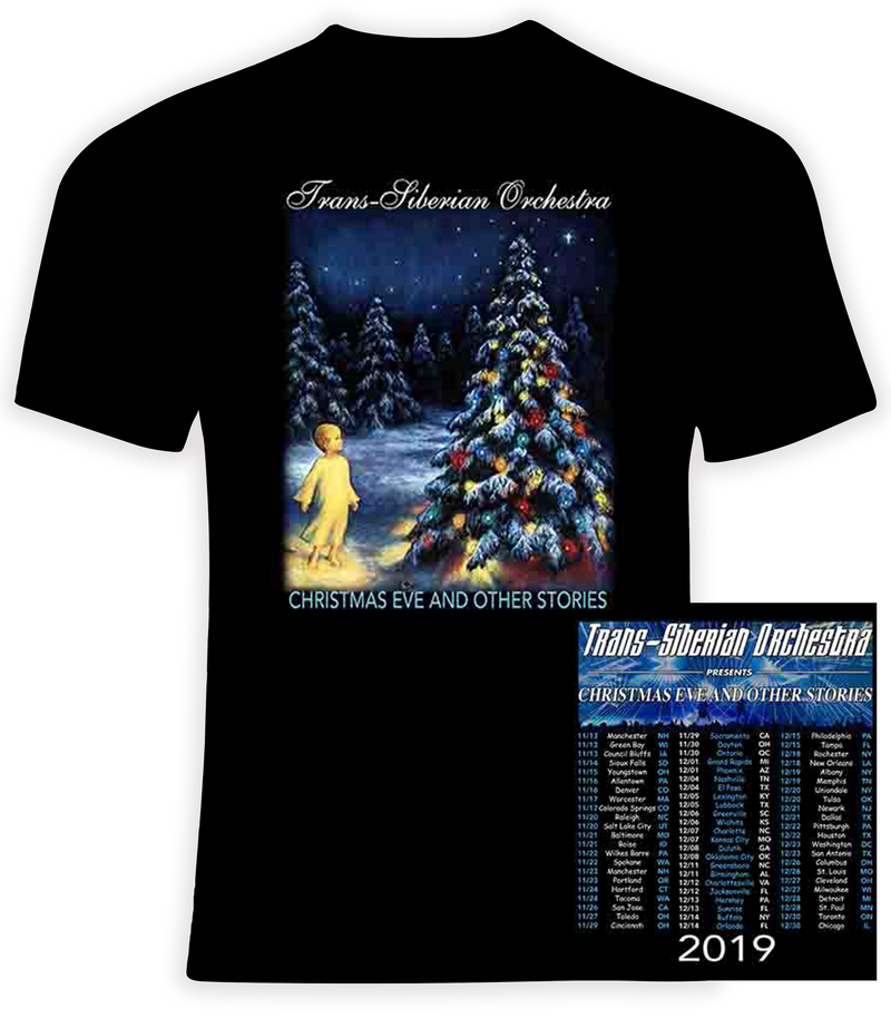 Trans Siberian Orchestra 2019 Christmas Eve and Other Stories 1 Concert Tour T Shirt