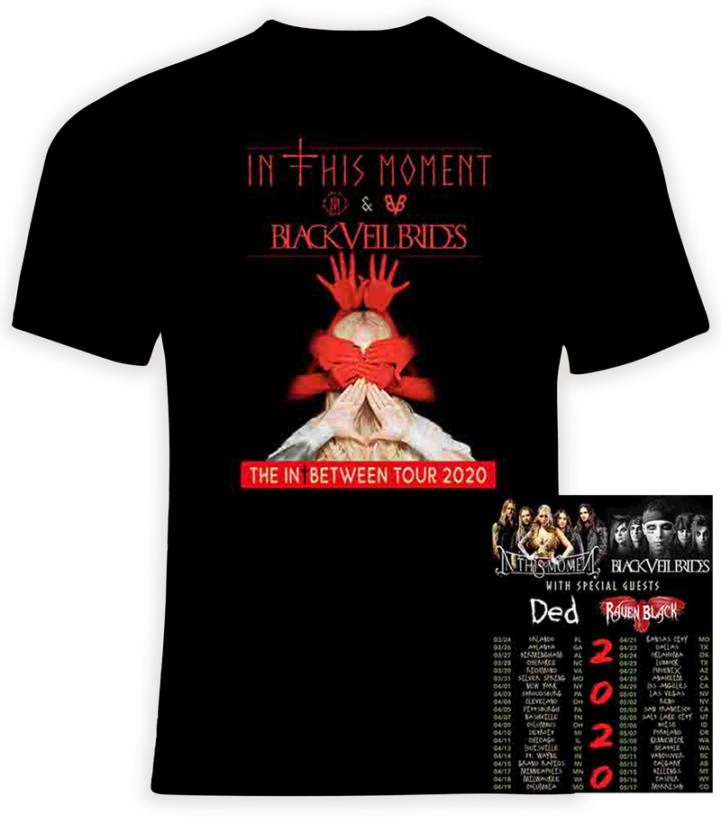 In This Moment and Black Veil Brides 2020 Concert Tour T Shirt