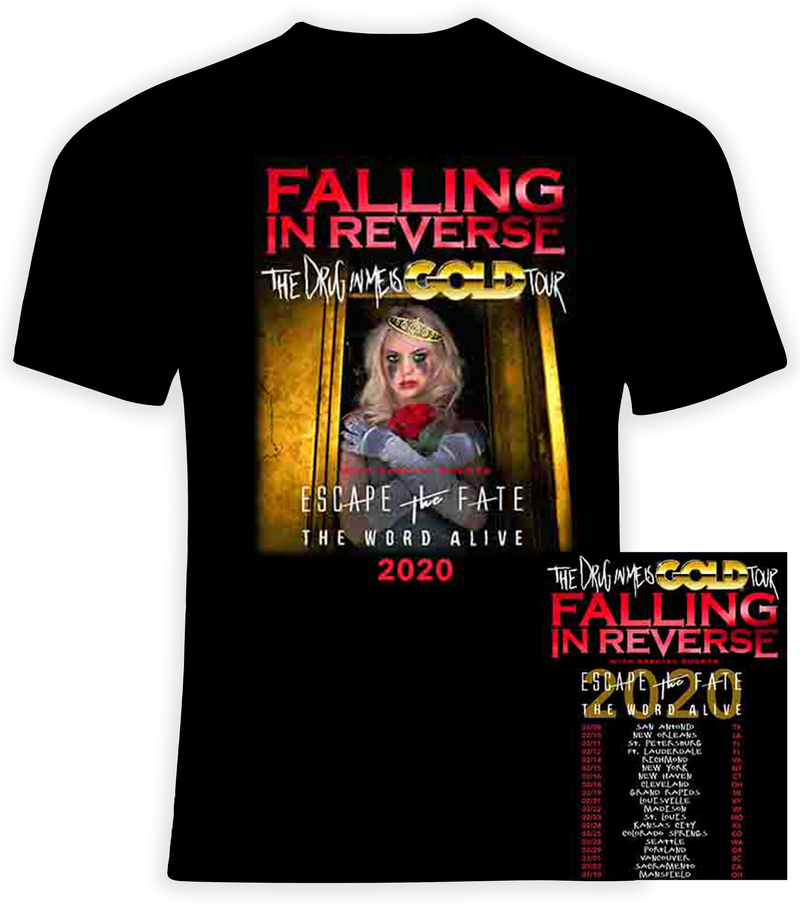 Falling in Reverse 2020 'The Drug In Me Is Gold' Tour T Shirt