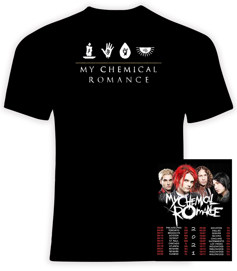 My Chemical Romance 2021 Concert t shirt
