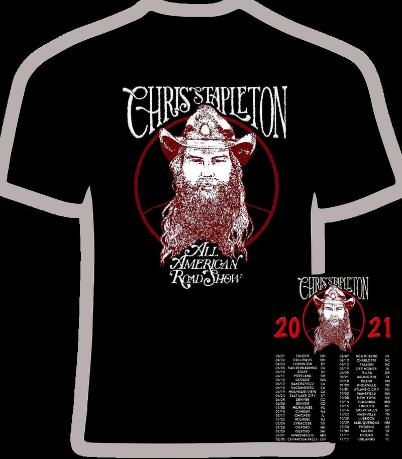 Chris Stapleton All American Road Show 2021 Concert t shirt