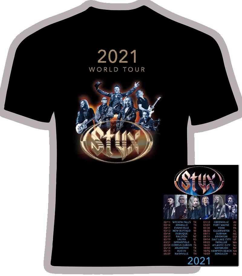 STYX 2021 Concert t shirt