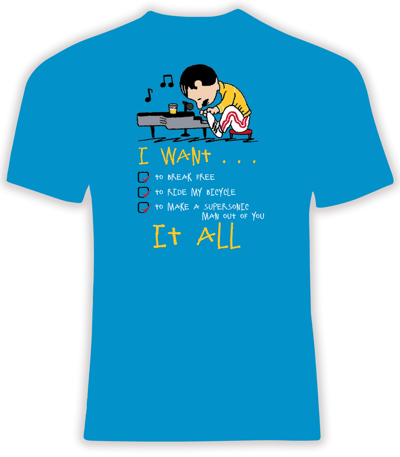 Freddie Mercury I Want It All T Shirt