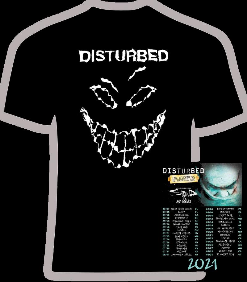 Disturbed 2021 Concert t shirt
