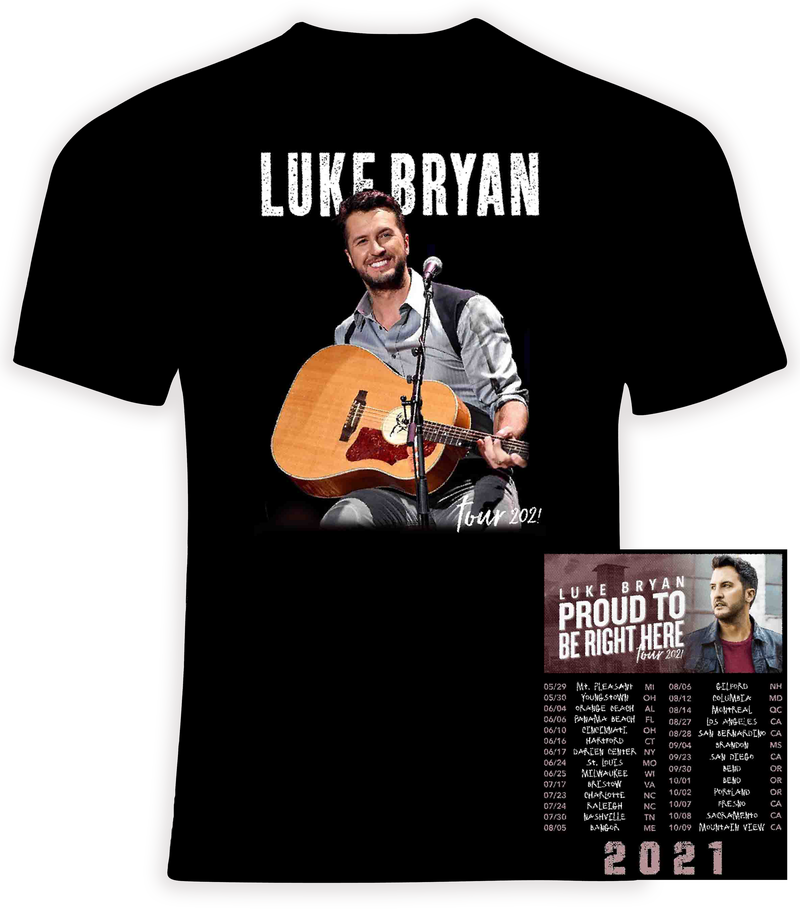 Luke Bryan 2021 Concert t shirt
