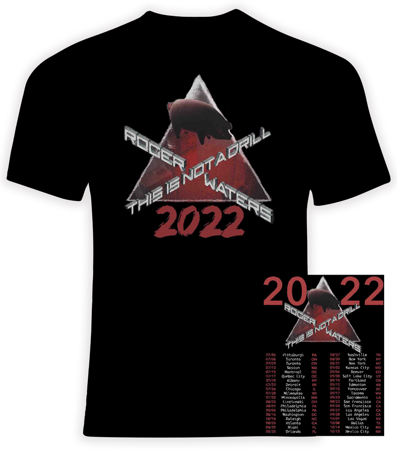 Roger Waters  2022 This is Not a Drill Concert Tour T Shirt