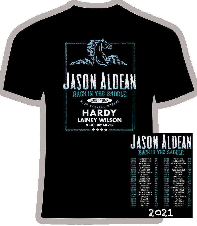 Jason Aldean 2021 'Back in the Saddle' Concert T shirt