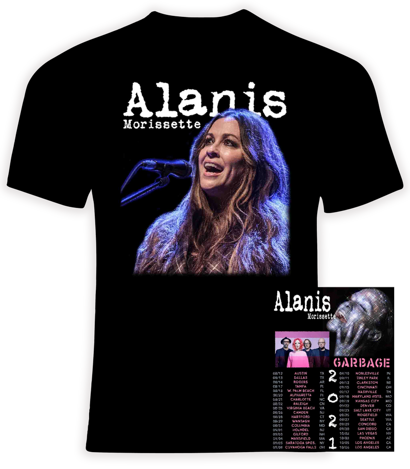 Alanis Morissette and Garbage 2021 Concert Tour T shirt