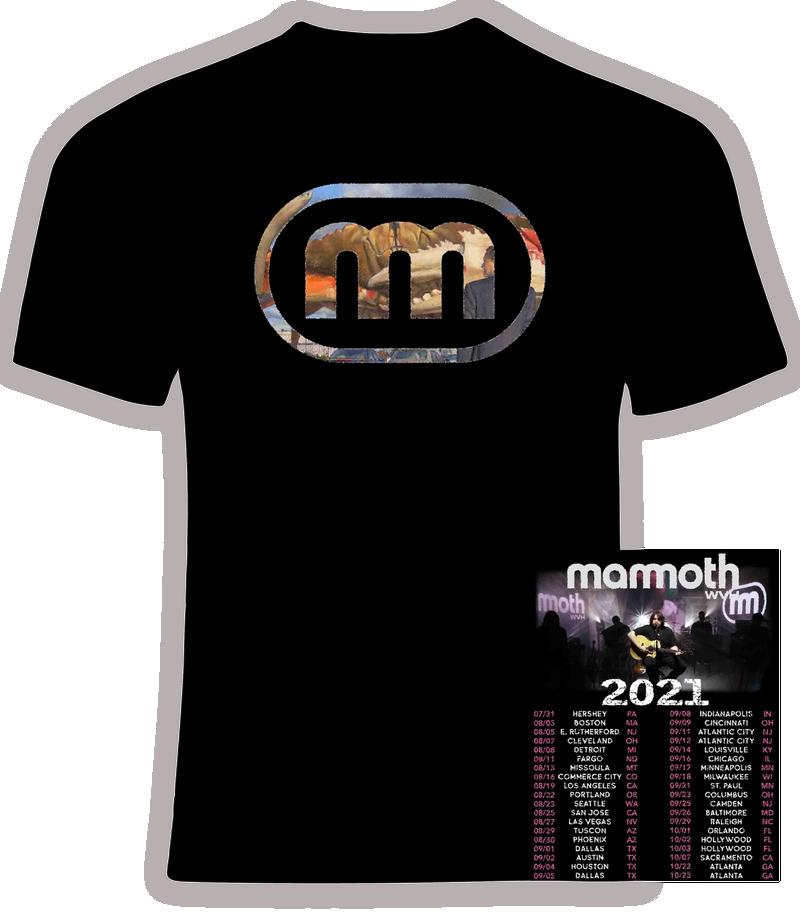 Wolfgang Van Halen Mammoth  2021 Concert Tour T shirt