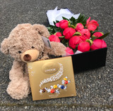Boxed peonie gift box