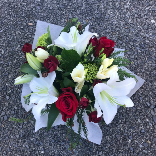 Red and white Florist choice box