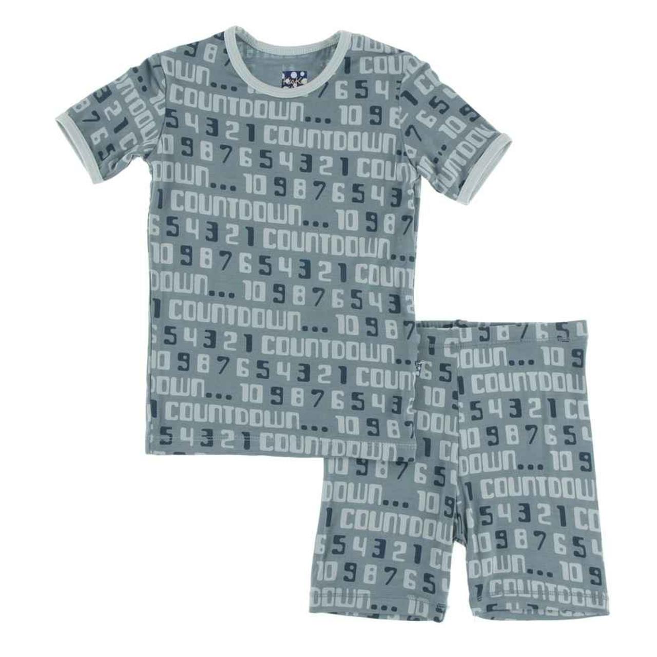 KicKee Pants Print Short Sleeve Pajama Set with Shorts
