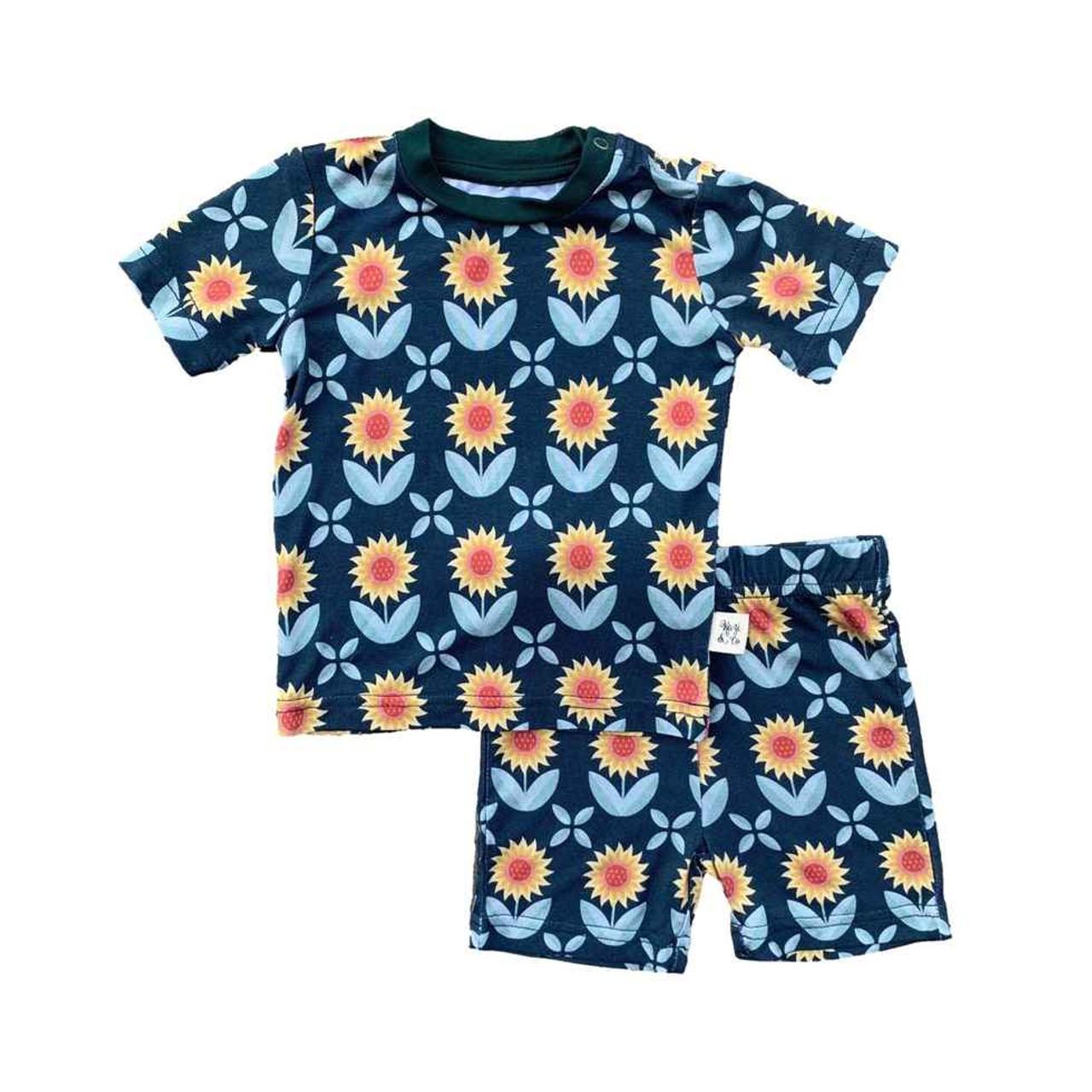 Kozi & Co. Boys Pajamas, Short Sleeve -Pajama Set Boys - Sunflowers, 18-24  Months | Baby Riddle