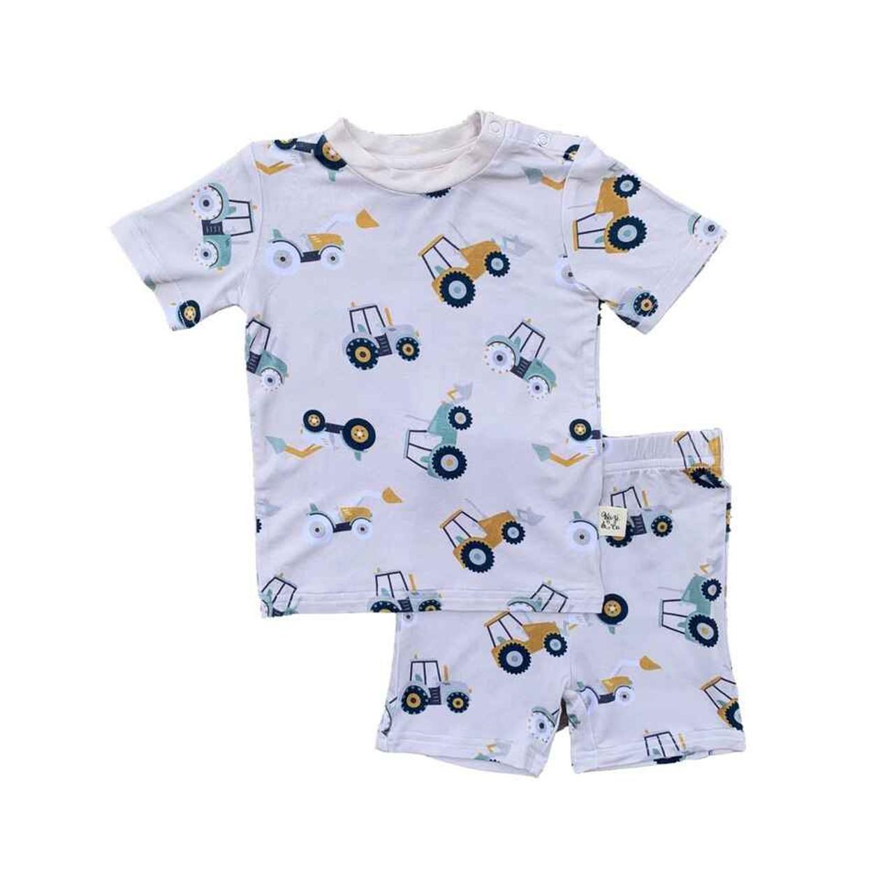 Kozi & Co. Boys Pajamas, Short Sleeve -Pajama Set Boys - Tractors, 18-24  Months | Baby Riddle