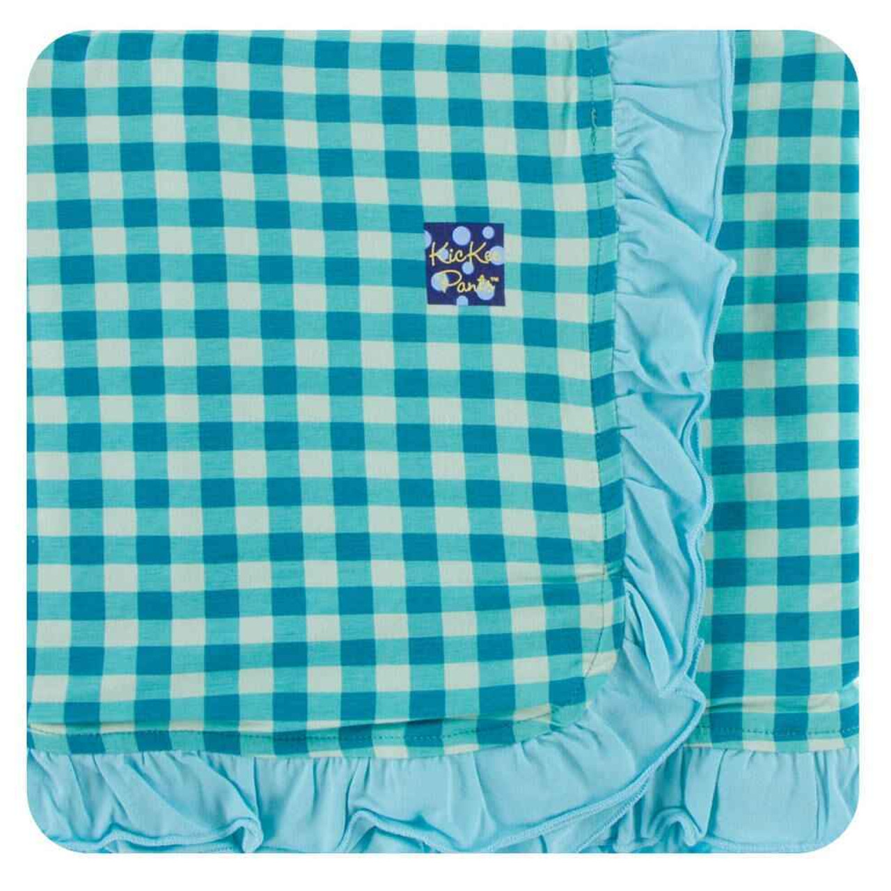 Solid Ruffle Stroller Blanket Dew - One Size