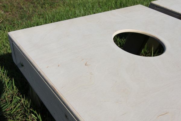 "We router the edges of the birch plywood as well as the full 6"" hole to give that smooth feel."