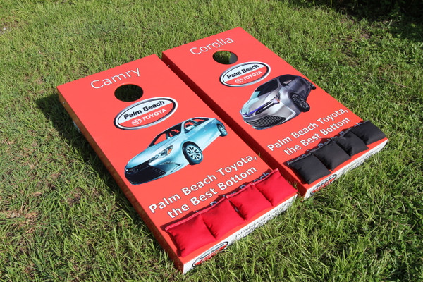 Standard series Cornhole Boards with custom side wrapped graphics