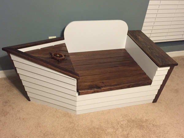 Boat themed toy box