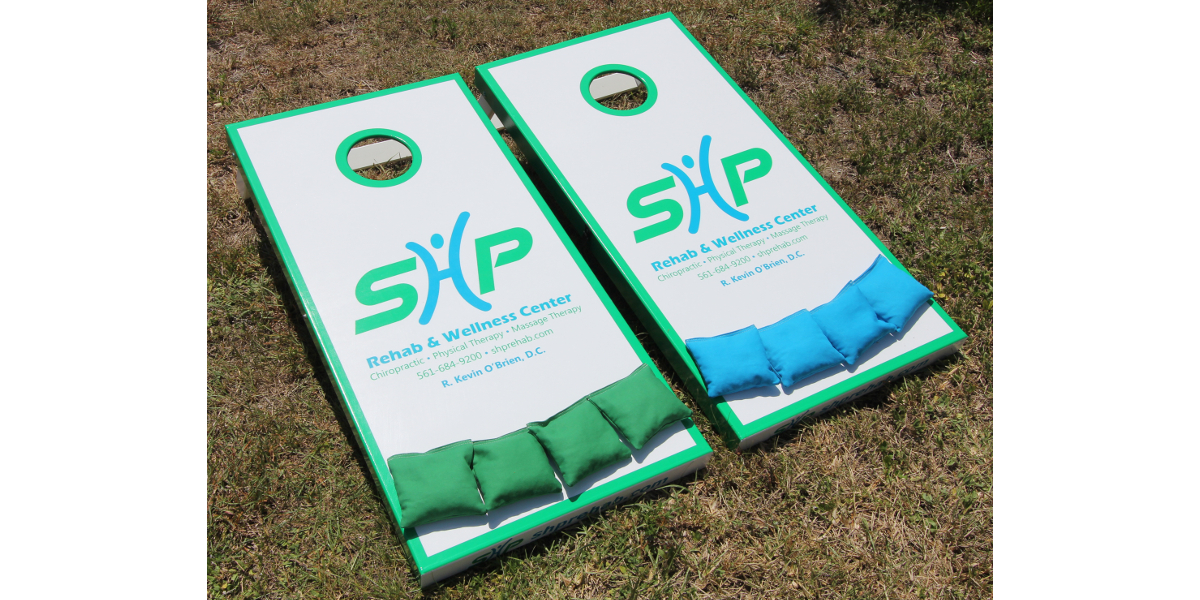 Cornhole Boards - Slimline Custom Side wrapped graphics