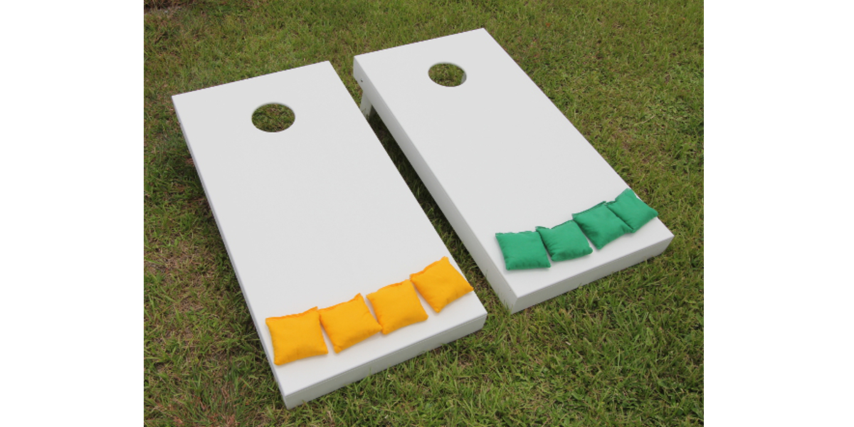 Standard Cornhole Boards Painted White