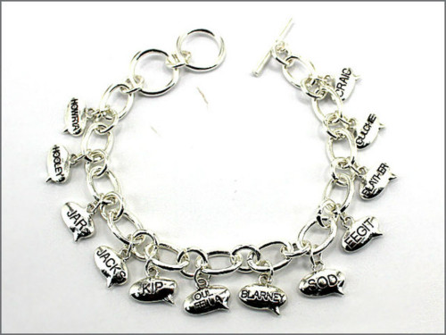 Irish Slang Words Charm Bracelet